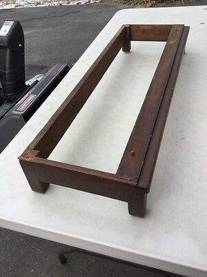 Antique Globe Wernicke Base For Sectional Bookcase Cabinet Dark Walnut Mahogany