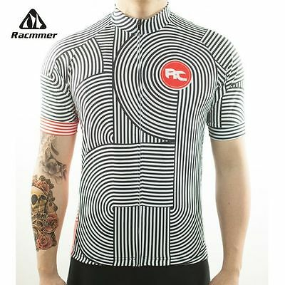 Racmmer 2017 Breathable Cycling Jersey Summer Mtb Cycling Clothing Black/White
