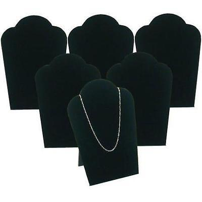 """6 Black Necklace Pendant Jewelry Bust Display Easel 3 3/4"""" x 5 1/4"""""""