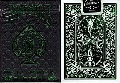 Foil Back Emerald Bicycle Playing Cards Poker Size Deck USPCC Custom Limited New