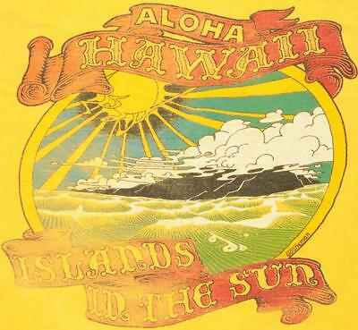 Vintage Aloha Hawaii Islands In The Sun Stoneman Soft Thin Surf Skate T Shirt