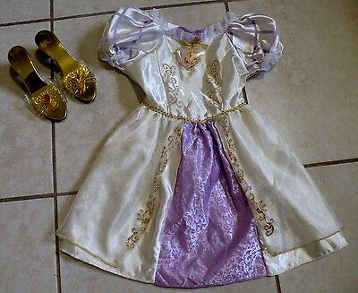 DISNEY Princess Tangled Rapunzel Toddler Girl Child Halloween Costume Size 2-4T