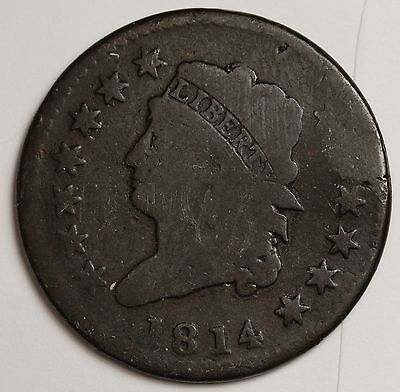 1814 Large Cent.  Nice Surfaces.  Circulated. 108738