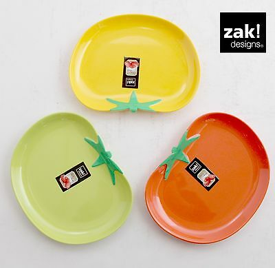 ZAK design Tomato small Plate Salad plate 20x16cm optimal for Camping Picnic