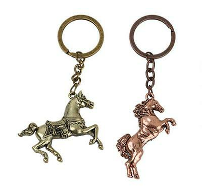 Charm Creative Animal Men horse Horses Key Chain Ring Keyring Metal Keychain