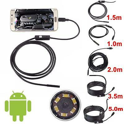 1M-5M 5.5mm Android Endoscope Waterproof Borescope Inspection Camera 6LED Cam BY