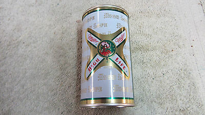 Vintage Miller High Life Beer Can Girl on Moon Flat Top 12 oz Milwaukee EXC!