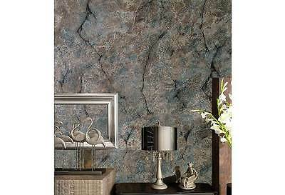 Modern Rustic 3D Rock Cement Concrete look wallpaper Industrial Shop fitting