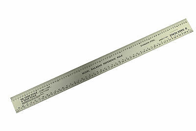 HO O S N Scale Gauge Rule Ruler Stainless Steel Model Railway Railroad X1061