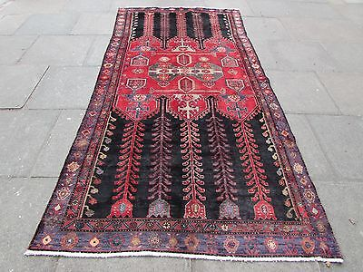 Old Shabby chic Traditional Hand Made Persian Wool Red Oriental Carpet 300x147cm