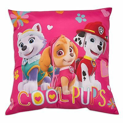 Paw Patrol Forever Reversible Cushion Pink Girls Childrens Skye New