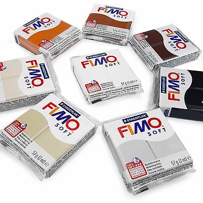 FIMO Soft Polymer Oven Modelling Clay - 57g - Set of 8 - Earth Tones