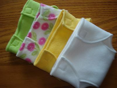 Baby doll diapers set of 4 soft and colorful handmade