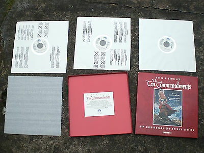 THE TEN COMMANDMENTS NTSC laserdisc  box set 3 discs