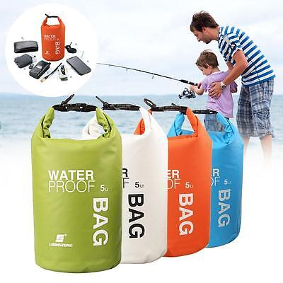 2L 5L Waterproof Dry Sack Bag Pouch Boating Kayaking Rafting Canoeing Float BC