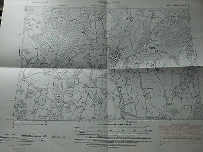 """Ide Hill,toys Hill,the Chart,near Westerham,kent:6"""" Scale Planners Map 1868-1949"""