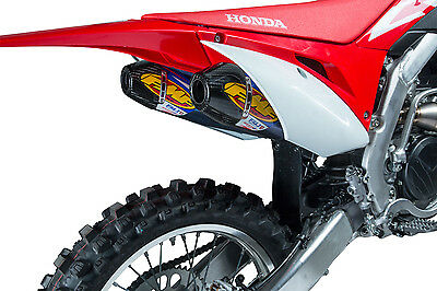 FMF Factory 4.1 Slip On Dual Mufflers TI for Honda CRF 450 R RX 2017 041550