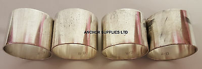 Genuine RAF Silver Plated Napkin Rings x 4 Officers Mess (A327)