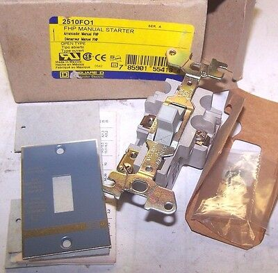 New Square D 2510Fo1 Fhp Manual Starter 2510-Fo1 2510F01