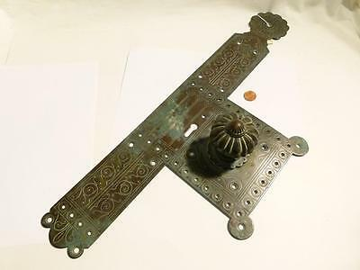 Antique Arts & Crafts Brass Door Handle will suit CHURCH CHAPEL Renovation 22""