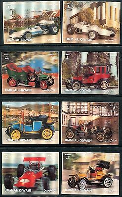1970's 3D Postage Stamps from Umm-Al-Qiwain of Automobiles Set of 12