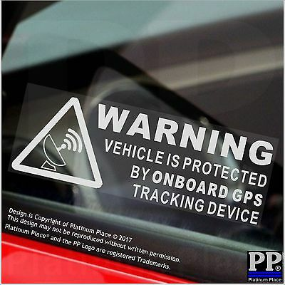 5 x WARNING On Board GPS Tracking Device Stickers-Car,Van,Boat,Taxi,Sign,Secure