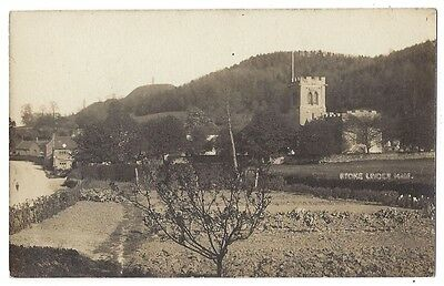 STOKE UNDER HAM General View, Signed on Reverse by Rev GG Monck, RP Postcard