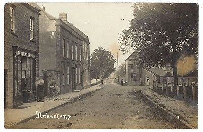 ILCHESTER View in Village Showing FJ Easton's Shop, RP Postcard Posted 1924