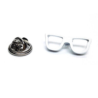 Geeky White Glasses Lapel Pin Badge Tie Pin Gift For Him