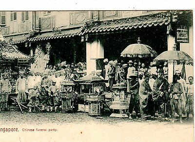 Malaya. Singapore. Chinese Funeral Party.