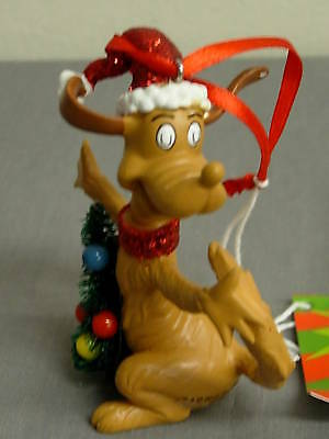 Dept 56 The Grinch Glittered Max W/ Tree  Ornament