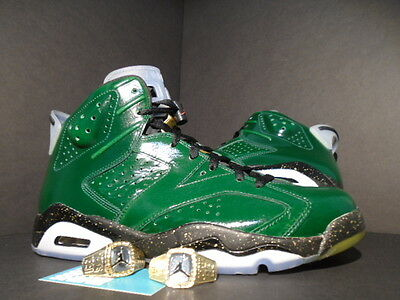 08ab76a85d275e Nike Air Jordan Vi 6 Retro Championship Champagne Pine Green Red Gold Black  11.5