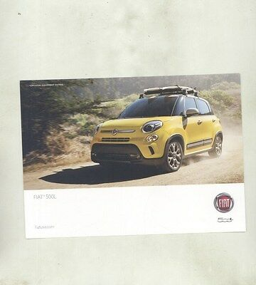 2016 Fiat 500L Large ORIGINAL Factory Postcard my8473