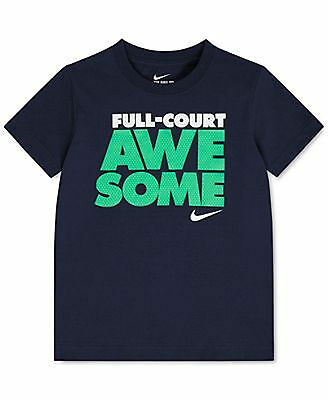 "NIKE Infant Boys ""FULL COURT AWESOME"" S/S T-Shirt ** OBSIDIAN/MULTI - 12M ** NWT"