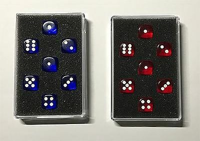 Magic Trick | Prediction Gimmicked Dice Red (7 Dice) by Kreis