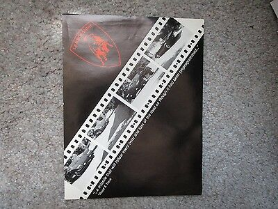 Original Lamborghini Countach LP 5000 S Sales Brochure Sheet Flyer