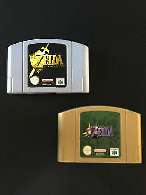 ♠ Lot Zelda Ocarina of Time + Majora's Mask pour Nintendo 64 n64 PAL ♠ Testé ✅
