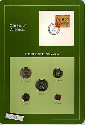 Nicely Packaged Uncirculated Coin Set From El Salvador