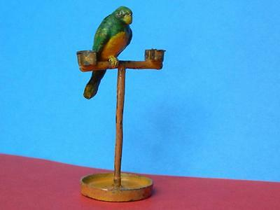 Charbens Rare Prewar Vintage Lead Mimic Circus Series Performing Parrot On Stand