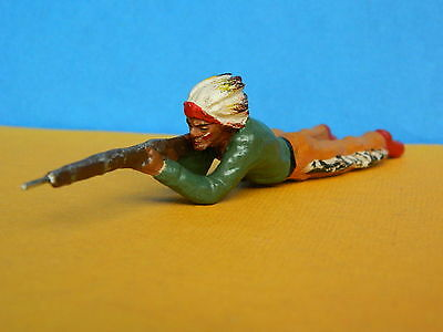 Vintage Composition Elastolin Hausser Germany Wild West American Indian Shooting