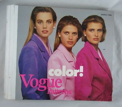 VOGUE Store Counter Sewing Pattern Book March 1989 Fashion Designers 1980s