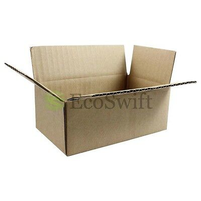 "1-200 6x4x3 ""EcoSwift"" Cardboard Packing Mailing Shipping Corrugated Box Cartons"
