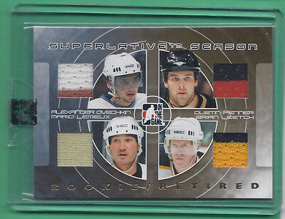 2008-09 ITG Superlative Rookie/Retired Gold Ver OVECHKIN/PENNER/LEMIEUX/LEETCH