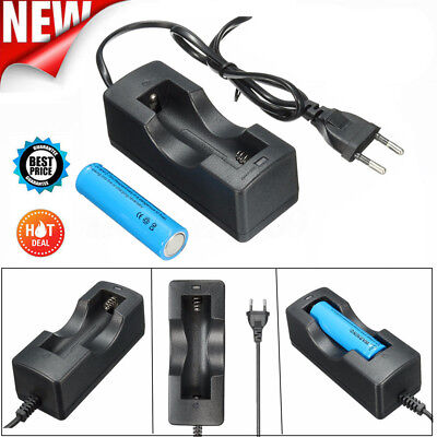 3800mAh Elfeland 3.7v 18650 Battery Rechargeable Li-ion Battery + EU Charger