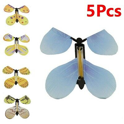 5Pc Transform Flying Butterfly Cocoon into a Butterfly Magician Trick Magic Toy