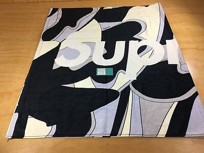 SUPREME Abstract Beach Towel Black White SS2016 2016 Spring Summer Box Logo TNF