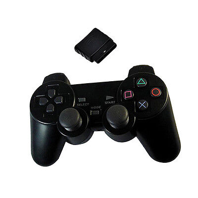 1Pcs Wireless Bluetooth Dualshock Game Controller Gamepad For PS2 Console Black