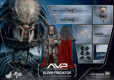 Hot Toys 1/6 Avp Alien Vs Predator Mms325 Elder Predator Masterpiece Figure