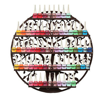 5-Tier Nail Polish Holder Wall Mounted Rack Display 3 Colors Round Metal   UK