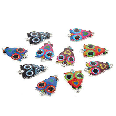 10pcs Mixed Nighthawk Oil Drip Connector Charms DIY Bracelet Necklace 15*25mm